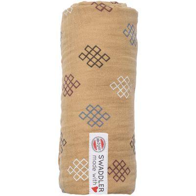 Maxi lange en coton Xandu miel (120 x 120 cm)  par Lodger