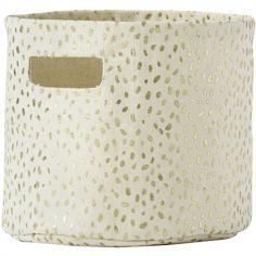 Panier de toilette Gold Foil (20 x 18 cm)