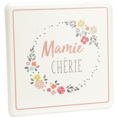 Plaque décorative en métal à accrocher Mamie chérie