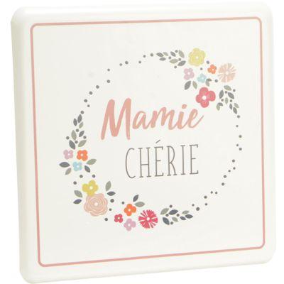 Plaque décorative en métal à accrocher Mamie chérie  par Amadeus
