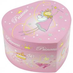 Boîte à bijoux musicale Coeur de princesse
