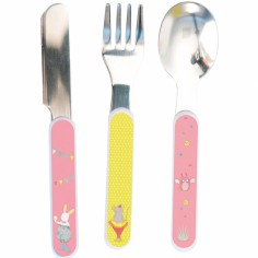 Set couverts chouette Mademoiselle et Ribambelle