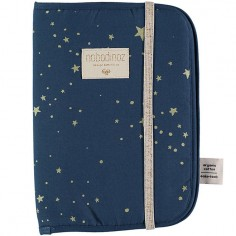 Protège carnet de santé Poema coton bio Gold stella Night blue