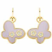 Boucles d'oreilles brisures Papillon laqué (or jaune 750°) - Berceau magique bijoux