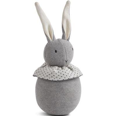 Culbuto lapin Valdemar gris (20 cm)