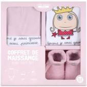 Coffret layette bébé 0-3 mois Quand je serai grande je serai princesse (3 pièces) - Isabelle Kessedjian