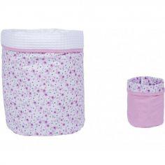 Lot de 2 paniers de toilette Liberty rose (20 x 20 cm)