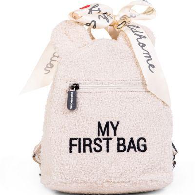 Sac à dos bébé My first bag Teddy écru (24 cm) Childhome