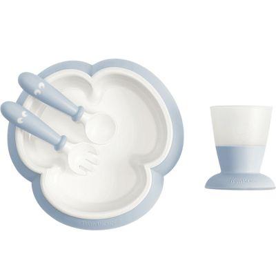Coffret repas bébé bleu pastel (4 pièces)  par BabyBjörn