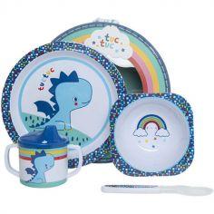 Coffret repas bébé Enjoy & Dream bleu (4 pièces)