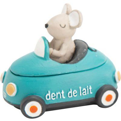 Boîte à dents voiture bleue  par Amadeus Les Petits
