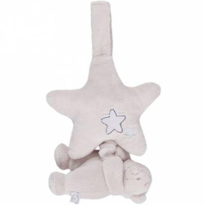 Mini doudou musical Nouky ours à suspendre Poudre d'étoiles (15 cm)  Noukie's