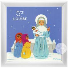 Tableau religieux Ste Louise Saint Patron personnalisable (15 x 15 cm)