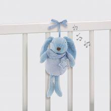 Lapin musical Etoile bleu (27 cm)  par Pasito a pasito