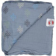 Couverture bébé en coton Dreamer Xandu Ocean bleu (120 x 120 cm)