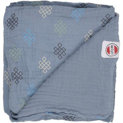 Couverture bébé en coton Dreamer Xandu Ocean bleu (120 x 120 cm)  par Lodger