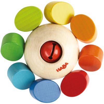 Hochet en bois Ronde des couleurs  par Haba