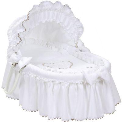 couffin en osier emma blanc nougatine berceau magique. Black Bedroom Furniture Sets. Home Design Ideas