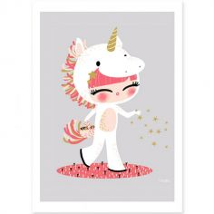 Carte A5 Les adorables costumés La licorne