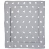 Tapis de parc Star gris et blanc (75 x 95 cm) - Baby's Only