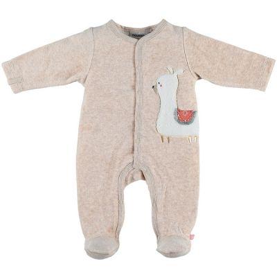 Pyjama chaud beige lama Sacha (1 mois)  par Noukie's