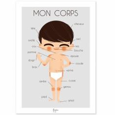 Carte A5 Mon corps garçon