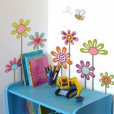 Stickers muraux Fleurs champêtres