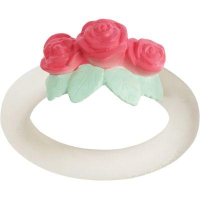 Anneau de dentition en caoutchouc Bouton de rose  par A Little Lovely Company