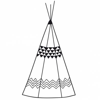 Affiche tipi Indian spirit by Elle C. (30 x 40 cm)  par Lilipinso