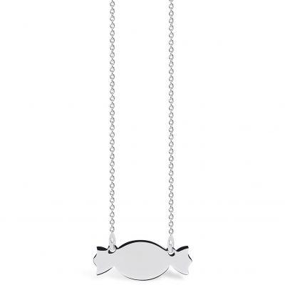 Collier chaîne 40 cm pendentif Mini Coquine bonbon 20 mm (argent 925°)  par Coquine
