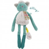 Hochet chat bleu Les Pachats - Moulin Roty