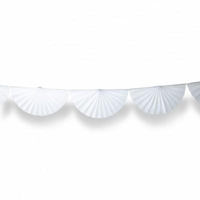 Guirlande éventail blanc  par Arty Fêtes Factory