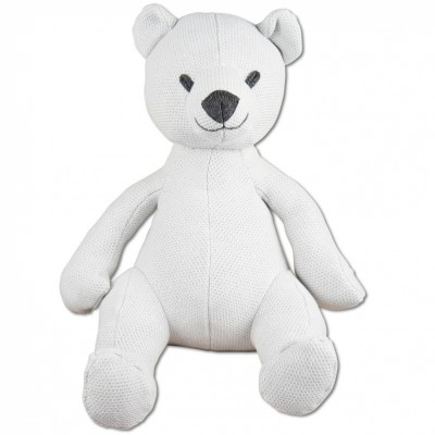 Peluche ourson Classic gris argent (35 cm) Baby's Only