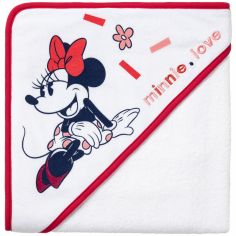 Cape de bain Minnie Love (80 x 80 cm)