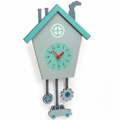 Horloge en bois Coucou Tom Téo