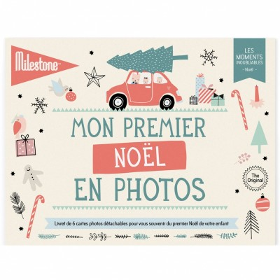 Livret de cartes détachables Mon premier Noël en photos (6 cartes)  par Milestone Cards