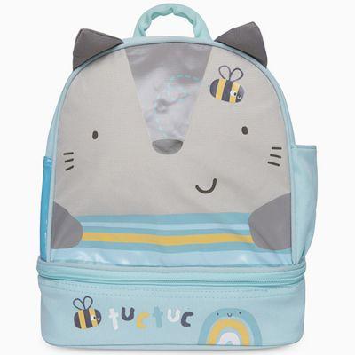 Sac à dos enfant avec compartiment pour goûter Natural Baby Chat bleu  par Tuc Tuc