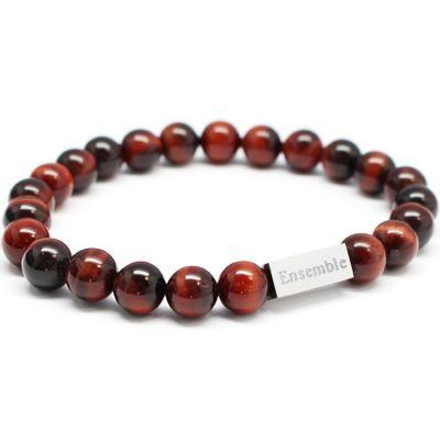 Bracelet homme en perles oeil de taureau (personnalisable)  par Petits trésors