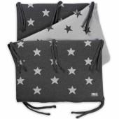 Tour de lit Star gris anthracite et gris (pour lit 60 x 120 cm) - Baby's Only