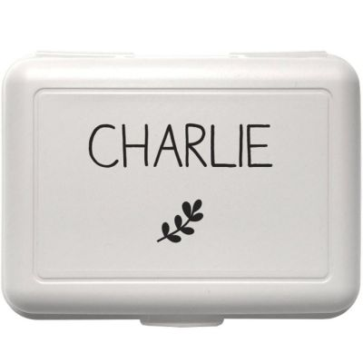 Boîte à goûter blanche (personnalisable)