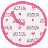 Doudou attache-sucette éléphant rose - Fresk