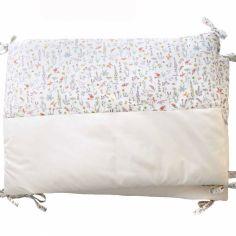 Tour de lit en percale de coton Liberty Alice rose (pour lits 60 x 120 cm)