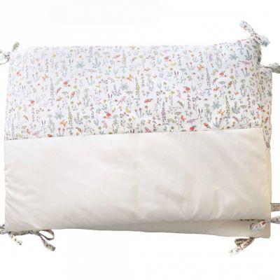Tour de lit en percale de coton Liberty Alice rose (pour lits 60 x 120 cm)  par Luciole et Cie