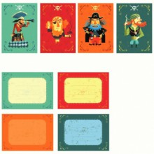 Pack de 8 cartes d'invitation des Pirates  par Little big room by Djeco