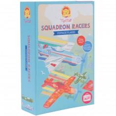 Coffret Escadron d'avions vintages en mousse à colorier