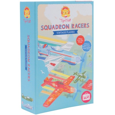 Coffret Escadron d'avions vintages en mousse à colorier