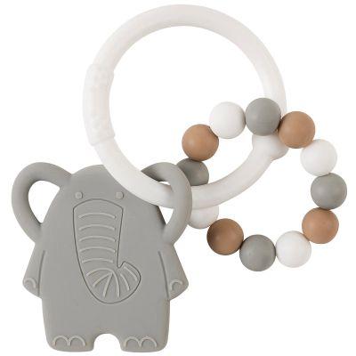 Anneau de dentition en silicone Eléphant  par Nattou