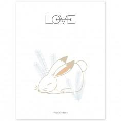 Affiche Nordic lapin Love (30 x 40 cm)