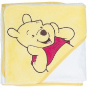 Cape de bain Winnie l'ourson jaune et blanche (80 x 80 cm) - Babycalin