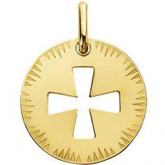 Médaille ajourée Croix de Malte (or jaune 750°